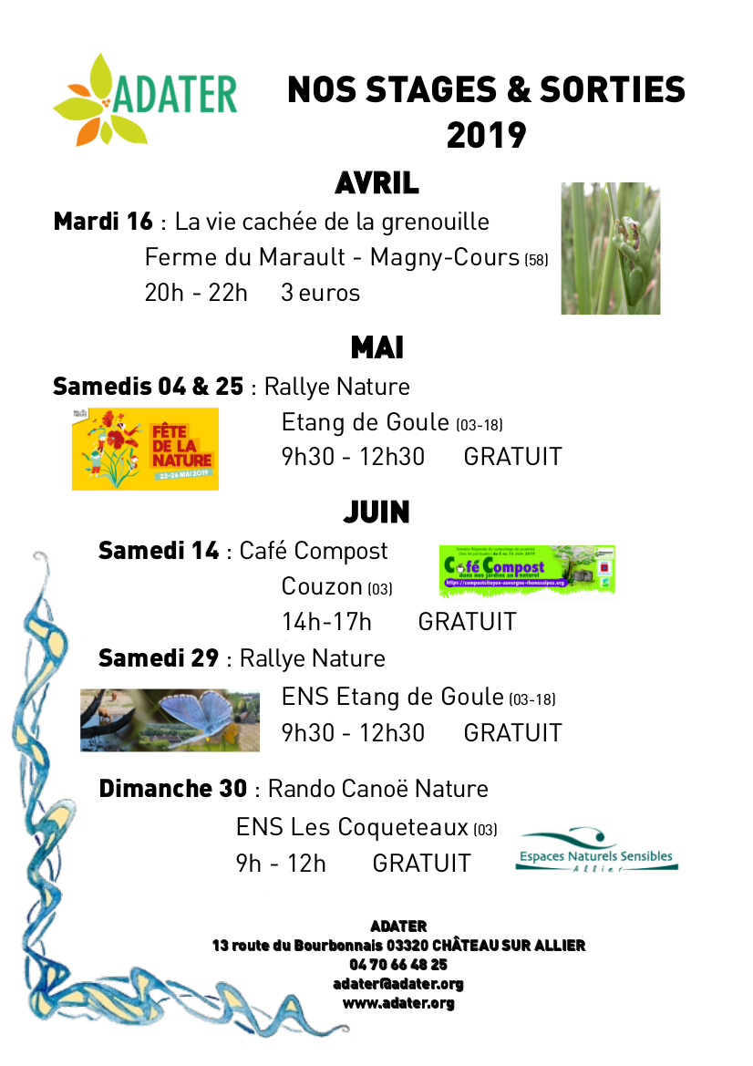 Rallye nature @ Etang de Goule