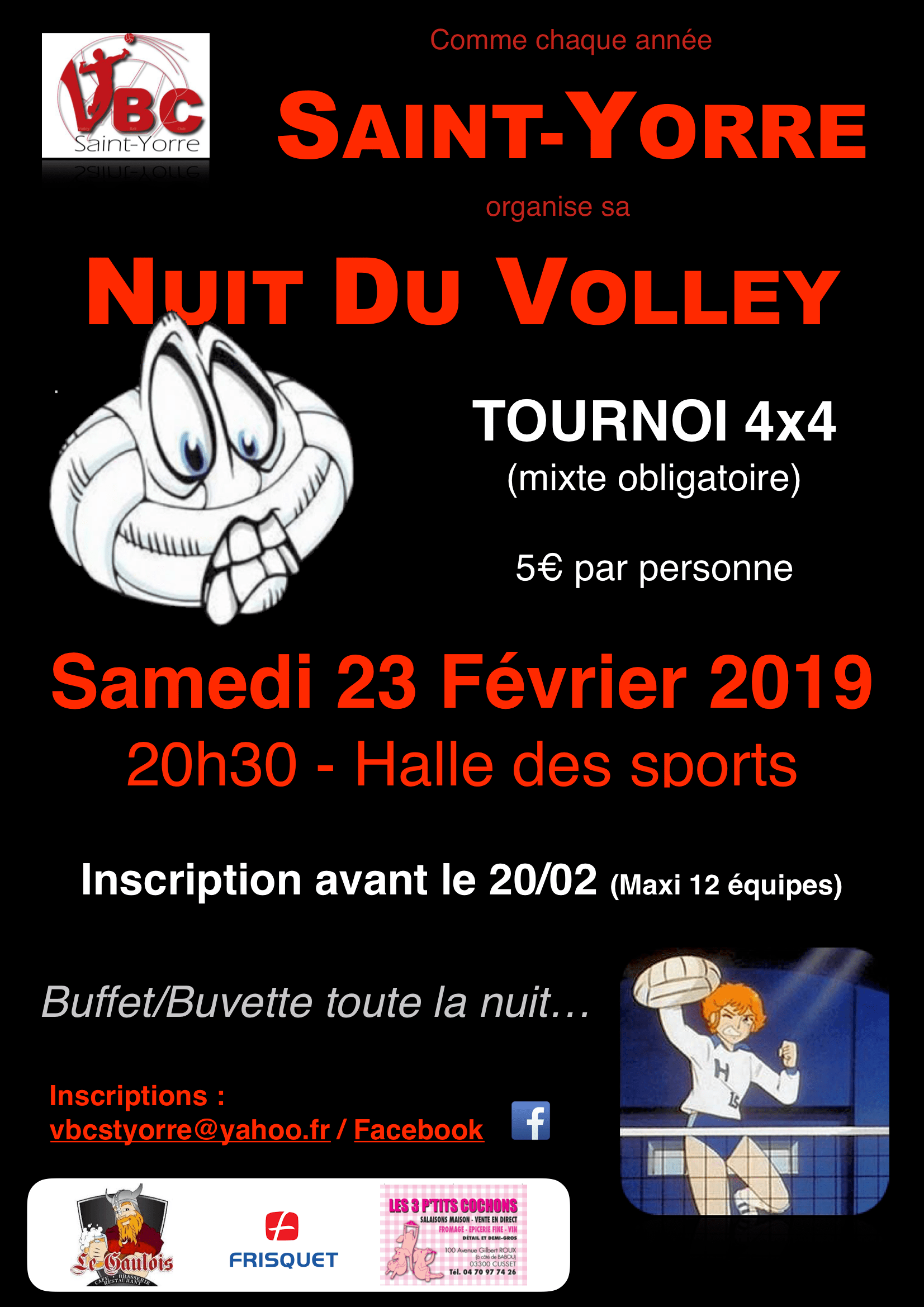 23/02 ♢ Nuit du Volley - VBC de Saint-Yorre