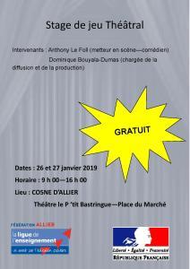 Stage théâtre @ Théâtre le P'tit Bastringue