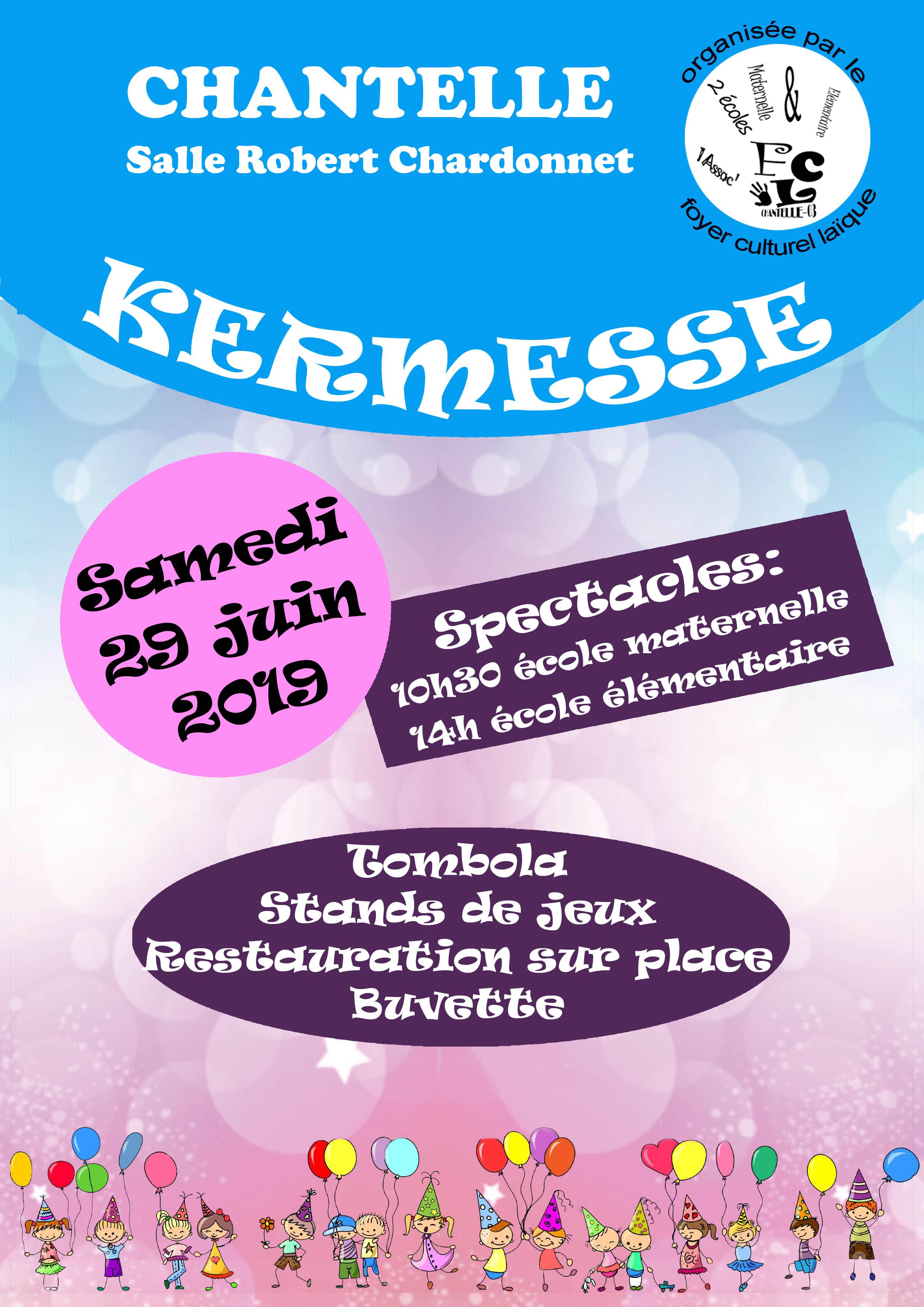 Kermesse des écoles @ Salle Chardonnet